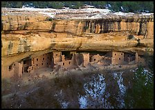 Spruce Tree house and alcove in winter. Mesa Verde National Park ( color)