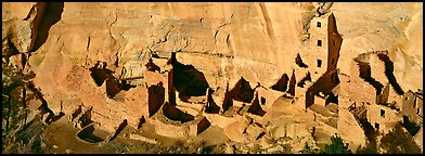 Square Tower House, tallest Ancestral pueblo ruin. Mesa Verde National Park (Panoramic color)