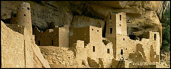 Anasazi cliff dwelling. Mesa Verde National Park (Panoramic color)