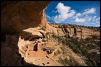 Long House nested in rock alcove, Wetherill Mesa. Mesa Verde National Park ( color)