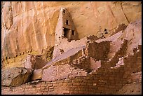 Multi story Ancestral Puebloan structure, Long House. Mesa Verde National Park ( color)