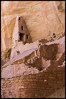 Multi-stored ancestral pueblo, Long House. Mesa Verde National Park ( color)