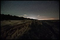Starry sky above Cliff Palace. Mesa Verde National Park ( color)