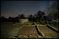 Far View ruins at night. Mesa Verde National Park ( color)