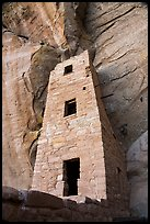 Three-storied tower from below, Square Tower House. Mesa Verde National Park ( color)