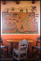 Murals on dining room by Hopi artist Fred Kabotie, Painted Desert Inn. Petrified Forest National Park ( color)