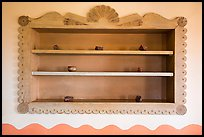 Shelf on dining room with American Indian designs, Painted Desert Inn. Petrified Forest National Park ( color)
