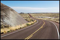 Road near the Flattops. Petrified Forest National Park ( color)