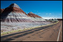 Road, The Tepees. Petrified Forest National Park ( color)