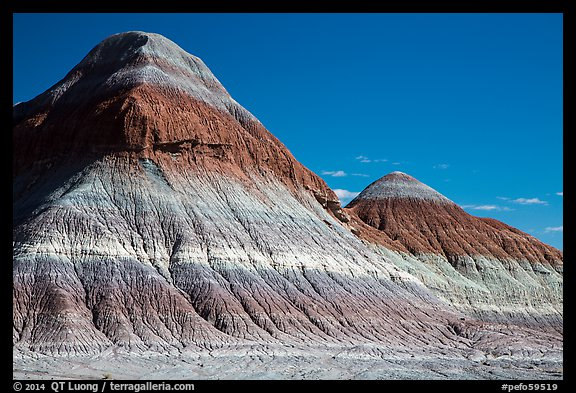 The Tepees. Petrified Forest National Park (color)