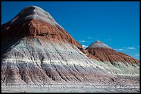 The Tepees. Petrified Forest National Park ( color)