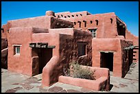 Painted Desert Inn in Adobe revival style. Petrified Forest National Park ( color)