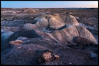Badlands from Puerco Ridge, dusk. Petrified Forest National Park ( color)