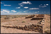 Ruined walls, Puerco Pueblo. Petrified Forest National Park ( color)