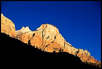 Peaks and shadows. Zion National Park ( color)