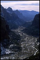 Zion Canyon from  summit of Angel's landing, mid-day. Zion National Park ( color)