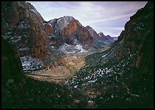 Zion Canyon from  West Rim Trail, stormy evening. Zion National Park ( color)
