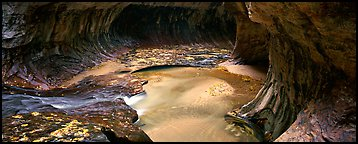 The Subway in autumn. Zion National Park (Panoramic color)