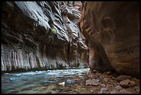 Tunnel passage in the Narrows. Zion National Park ( color)