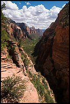 Zion Canyon from Angels Landing. Zion National Park ( color)