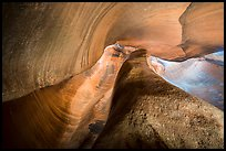 Swirling canyon walls, Keyhole Canyon. Zion National Park ( color)