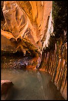 Room with striated walls, Pine Creek Canyon. Zion National Park ( color)