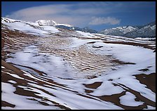 Melting snow on the dunes. Great Sand Dunes National Park and Preserve ( color)