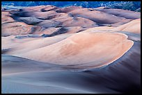 Dune field in lilac afterglow. Great Sand Dunes National Park and Preserve ( color)