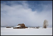Moulton Barn in winter. Grand Teton National Park ( color)