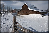 Historic Mormon Row homestead in winter. Grand Teton National Park ( color)