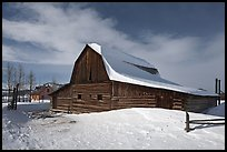 John and Bartha Moulton homestead in winter. Grand Teton National Park ( color)