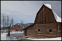 Moulton barn and house in winter. Grand Teton National Park ( color)