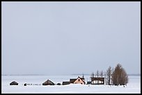 Mormon row homesteads and Jackson Hole in winter. Grand Teton National Park ( color)