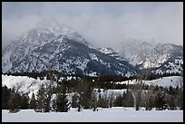 Below Teton range in winter. Grand Teton National Park ( color)