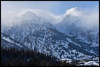 South Teton and Grand Teton in winter. Grand Teton National Park ( color)