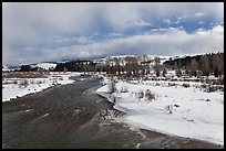 Gros Ventre River in winter. Grand Teton National Park ( color)
