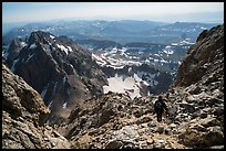 Mountaineer descending Grand Teton. Grand Teton National Park ( color)