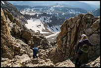 Climbers descend Grand Teton. Grand Teton National Park ( color)