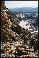 Climbers descending Grand Teton. Grand Teton National Park ( color)