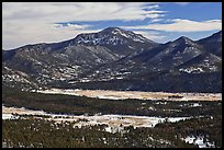 Moraine Park from above, Gianttrack Mountain, late winter. Rocky Mountain National Park ( color)