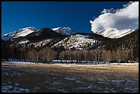 Aspens and mountains, West Horseshoe Park, winter. Rocky Mountain National Park ( color)