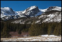 Hallet Peak and Flattop Mountain in late winter. Rocky Mountain National Park ( color)