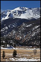 Moraine Park and Stones Peak in winter. Rocky Mountain National Park ( color)