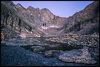 Longs Peak above Chasm Lake at twilight. Rocky Mountain National Park ( color)