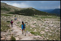 Longs Peak trail. Rocky Mountain National Park, Colorado, USA. (color)
