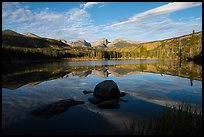 Sprague Lake and Continental Divide. Rocky Mountain National Park ( color)