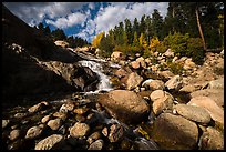 Stream cascading over Alluvial Fan and boulders. Rocky Mountain National Park ( color)
