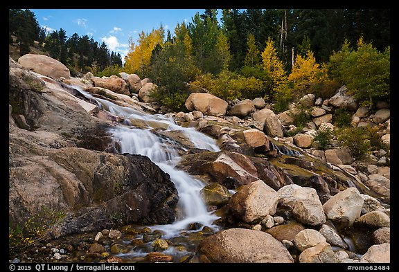 Alluvial Fan in autumn. Rocky Mountain National Park (color)