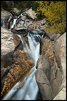 Cascades above Chasm Falls. Rocky Mountain National Park ( color)