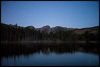 Sprague Lake at night. Rocky Mountain National Park ( color)